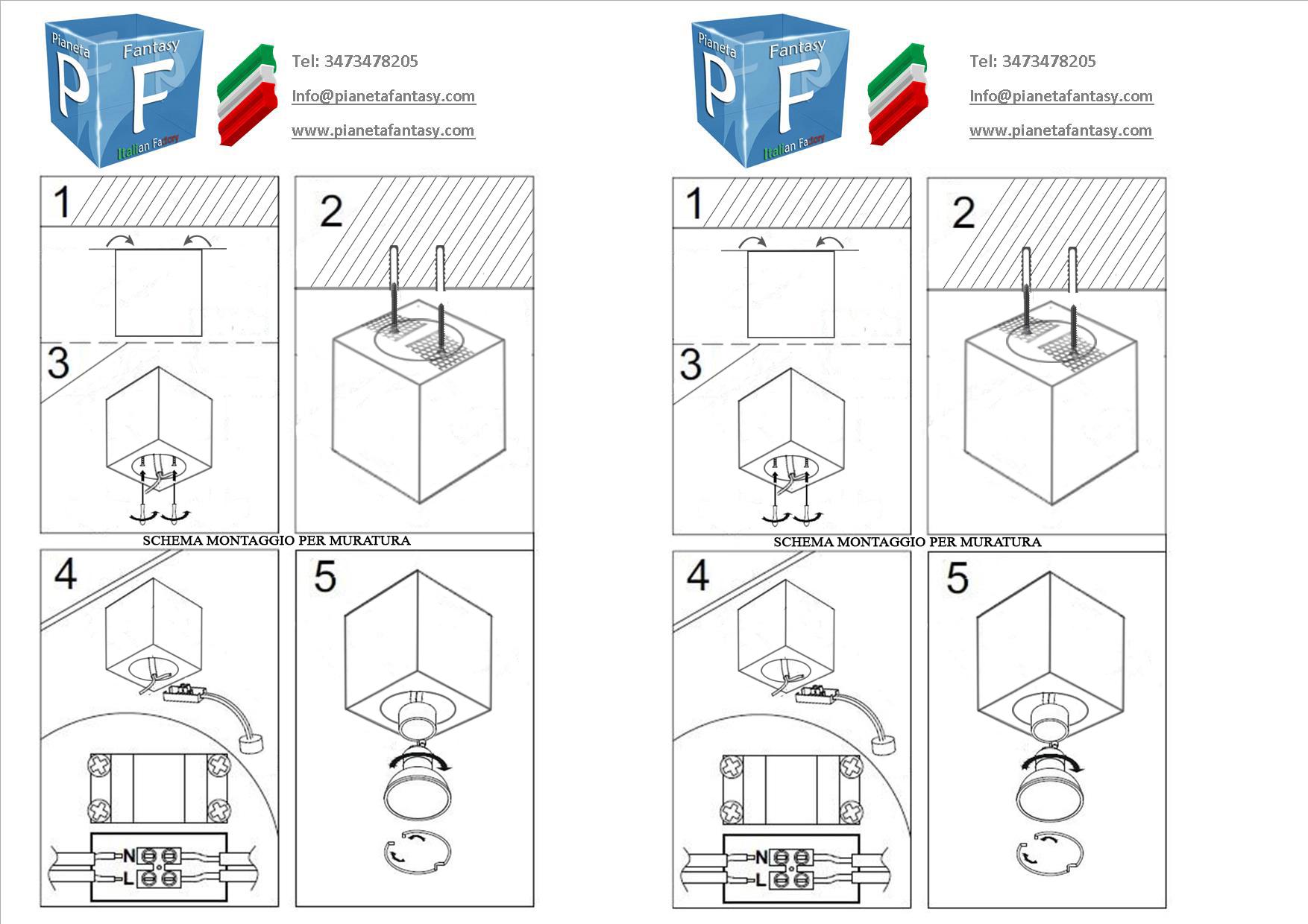 Faretti Cubo Prezzo: Cenerentola applique planetitaly lampada da parete. Faretti gesso isyluce ...