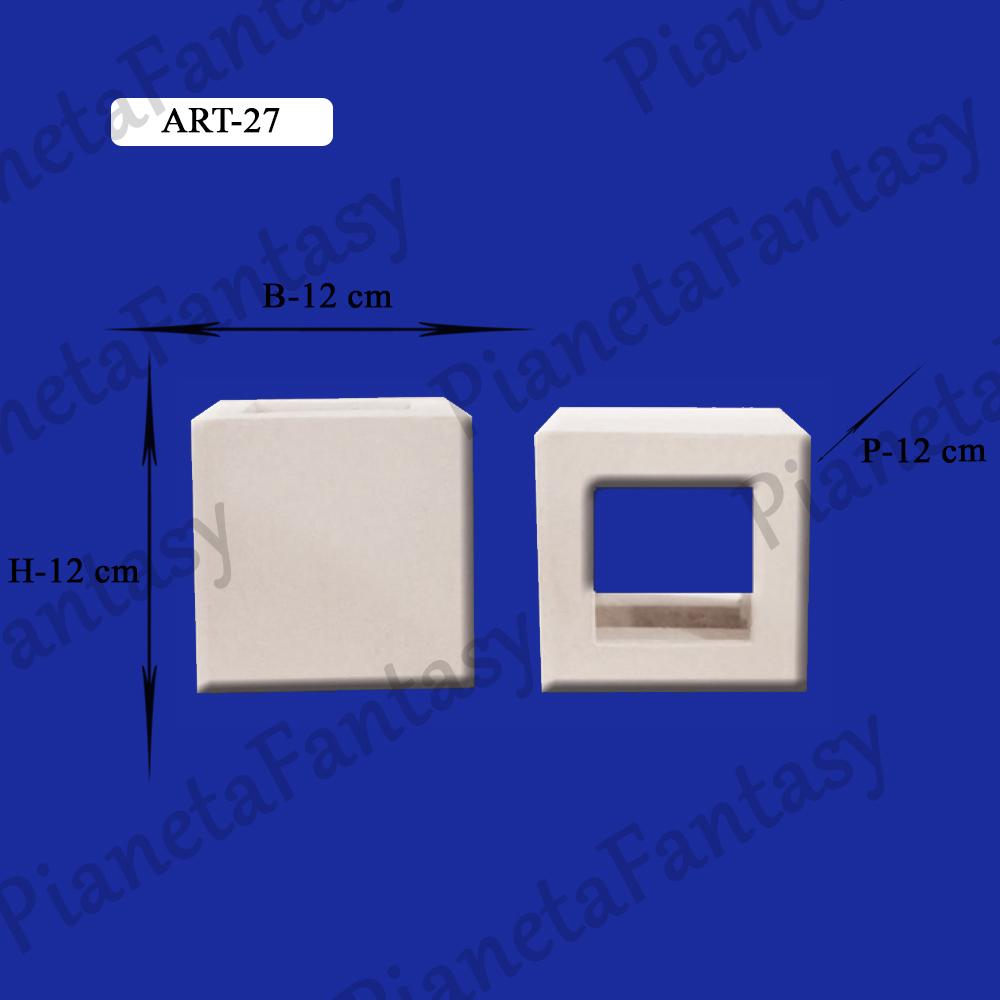 Applique art 27 da parete in gesso ceramico - Applique in gesso da parete ...
