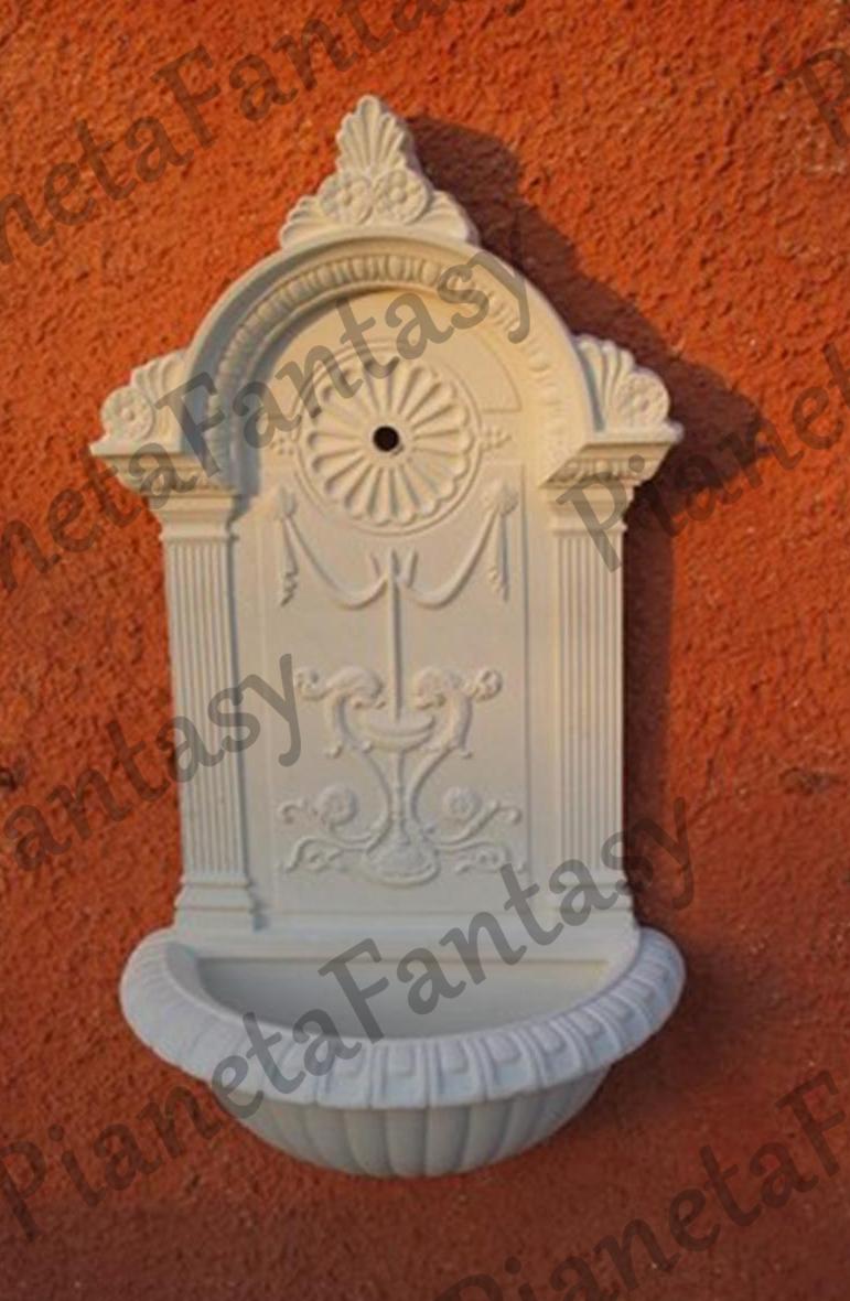 Fontana art 0395 a muro in cemento no pietra arredo for Arredo ville e giardini