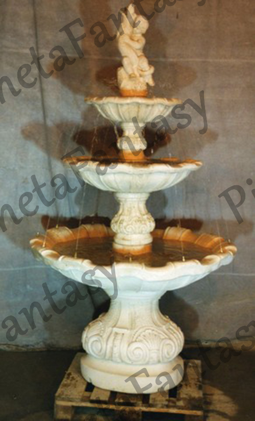 Fontana art 0334 3 cadute in cemento no pietra arredo for Arredo ville e giardini